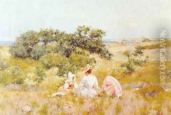 The Fairy Tale (or A Summer Day) Oil Painting - William Merritt Chase