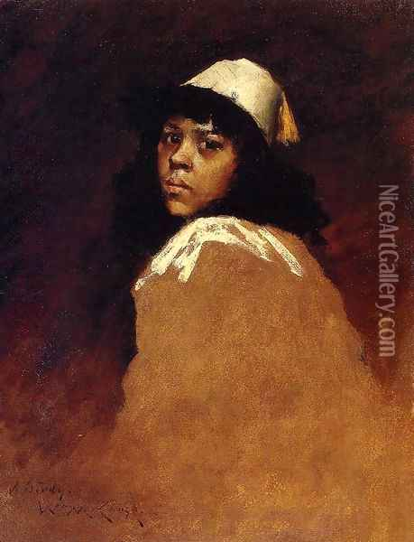 The Moroccan Girl Oil Painting - William Merritt Chase