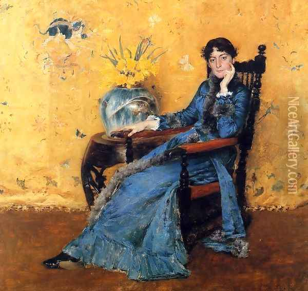 Portrait of Miss Dora Wheeler Oil Painting - William Merritt Chase