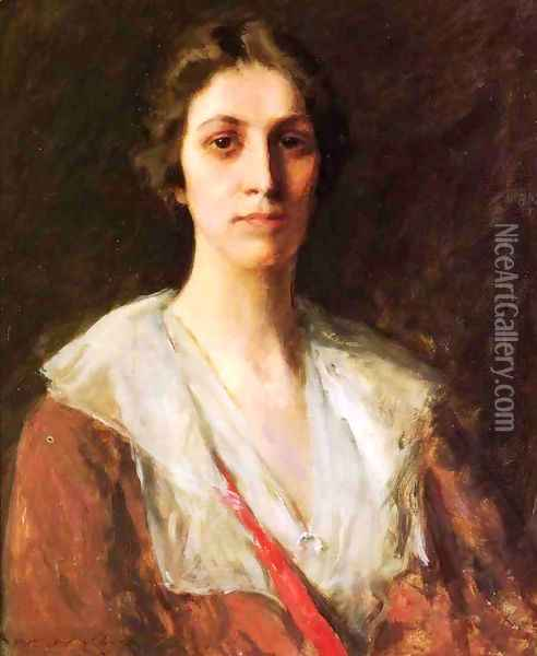 Miss Mary Margaret Sweeny Oil Painting - William Merritt Chase