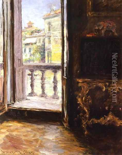 A Venetian Balcony Oil Painting - William Merritt Chase