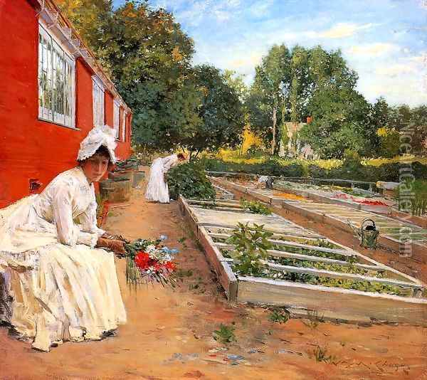 The Nursery Oil Painting - William Merritt Chase