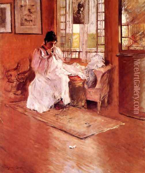 For The Little One Aka Hall At Shinnecock Oil Painting - William Merritt Chase