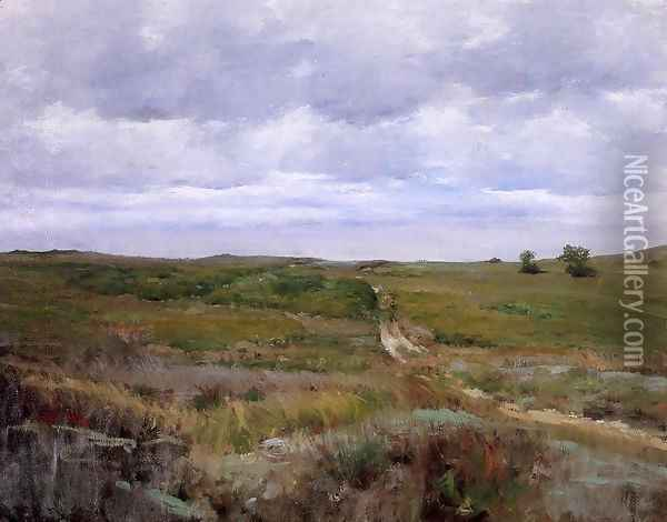 Over The Hills And Far Away Oil Painting - William Merritt Chase
