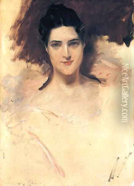 Portrait of Mrs. William Clark Oil Painting - William Merritt Chase