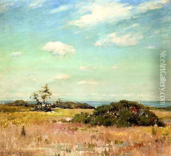 Shinnecock Hills Long Island Oil Painting - William Merritt Chase