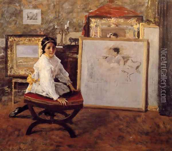 Did You Speak To Me Oil Painting - William Merritt Chase