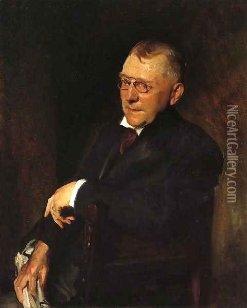 Portrait of James Whitcomb Riley Oil Painting - William Merritt Chase