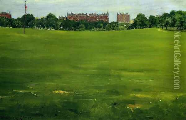 The Common Central Park Oil Painting - William Merritt Chase