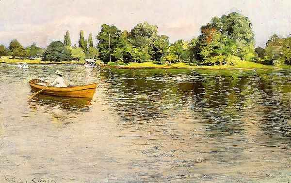 Summertime Oil Painting - William Merritt Chase