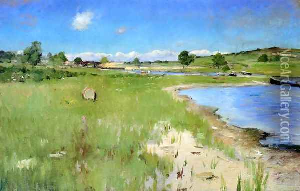 Shinnecock Hills From Canoe Place Long Island Oil Painting - William Merritt Chase