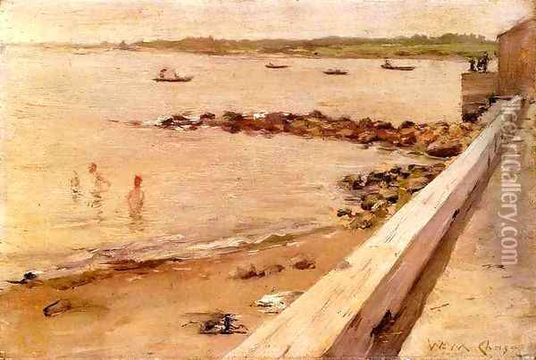 The Bathers Oil Painting - William Merritt Chase