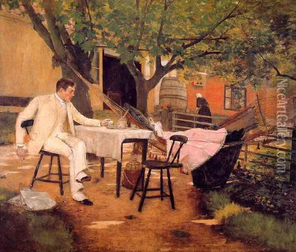 Sunlight and Shadow Oil Painting - William Merritt Chase