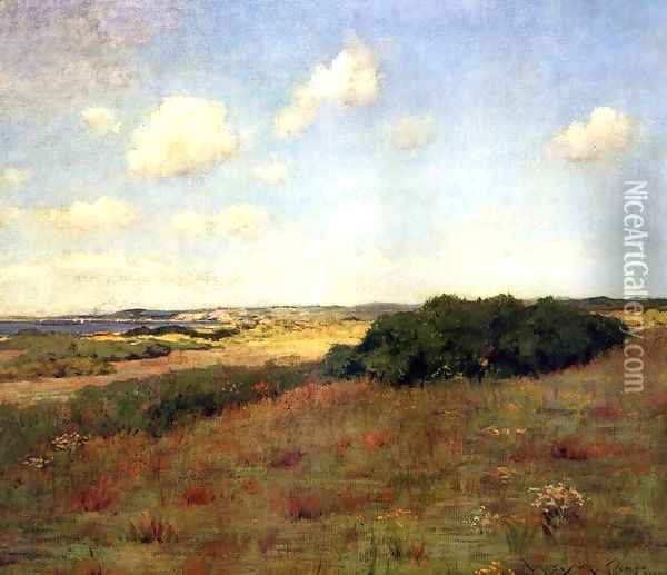 Sunlight and Shadow, Shinnecock Hills, c.1895 Oil Painting - William Merritt Chase