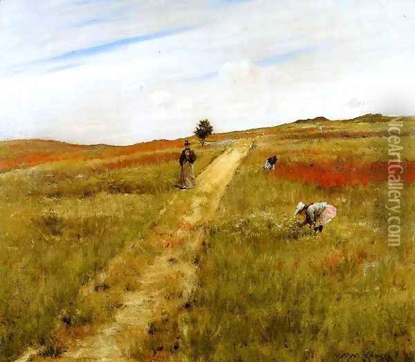 Shinnecock Hills (or Shinnecock Hills Autumn) Oil Painting - William Merritt Chase