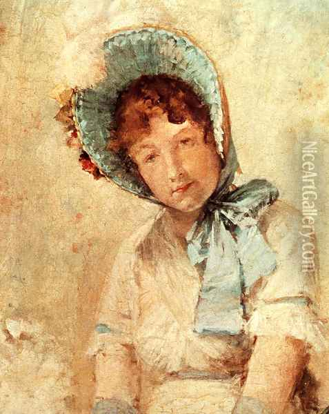 Portrait Of Harriet Hubbard Ayers Oil Painting - William Merritt Chase