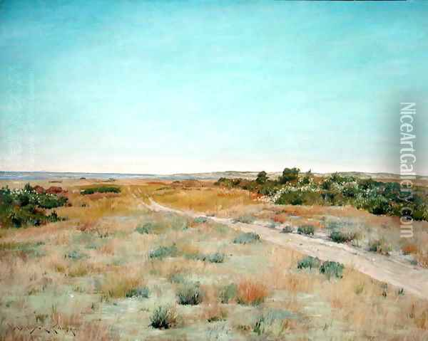 First Touch of Autumn, c.1898 Oil Painting - William Merritt Chase