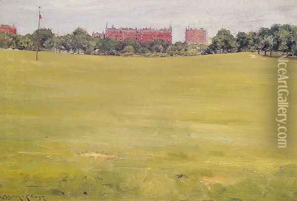 View from Central Park Oil Painting - William Merritt Chase