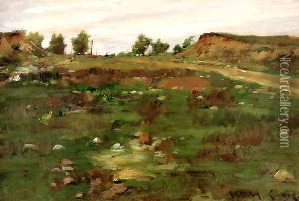 Shinnecock Hills Oil Painting - William Merritt Chase