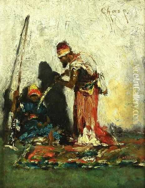 Two Arabs Oil Painting - William Merritt Chase