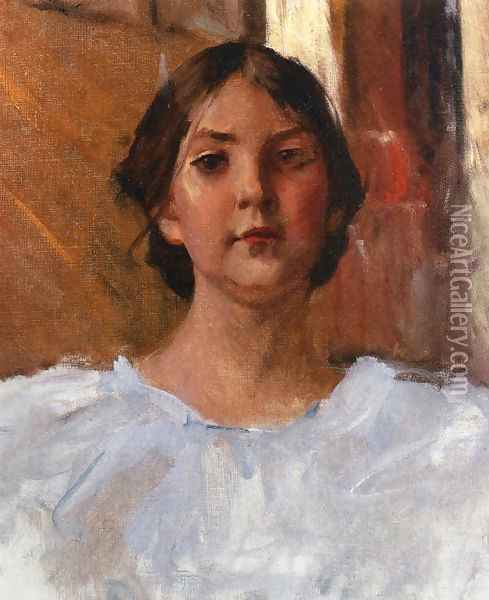 My Daughter Dorothy Oil Painting - William Merritt Chase