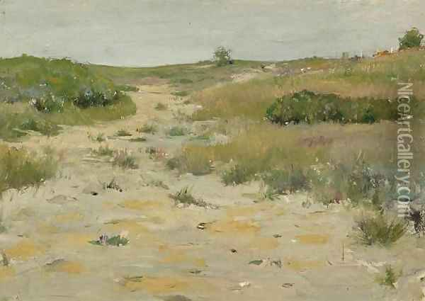 View of Shinnecock Hills Oil Painting - William Merritt Chase