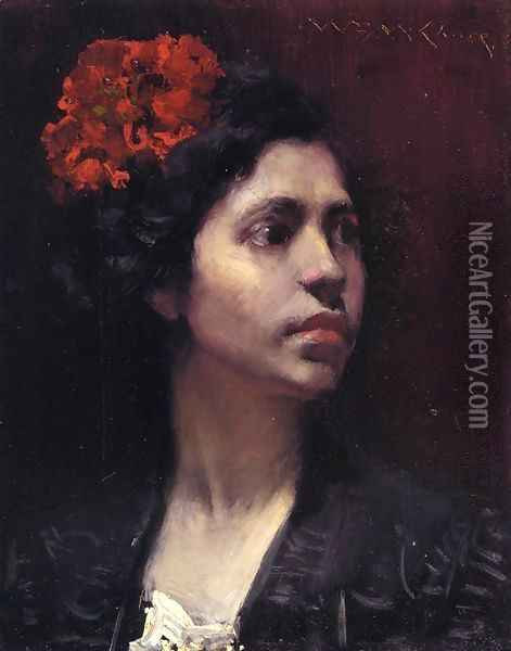 Spanish Girl Oil Painting - William Merritt Chase