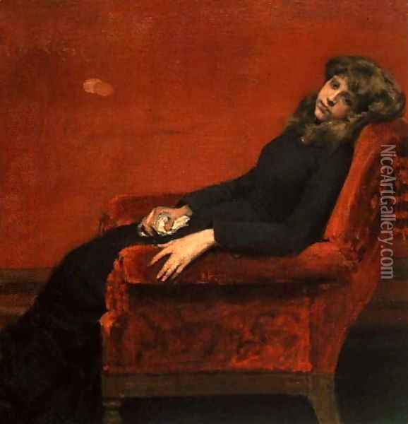 Study of a Young Girl Oil Painting - William Merritt Chase