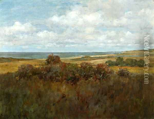 Shinnecock Landscape IV Oil Painting - William Merritt Chase