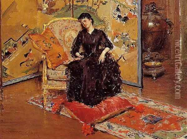 Weary (or Who Rang?) Oil Painting - William Merritt Chase