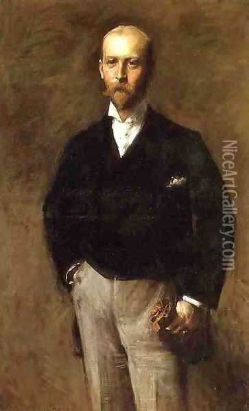 Portrait of William Charles Le Gendre Oil Painting - William Merritt Chase
