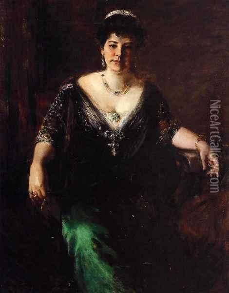 Portrait of Mrs. William Merritt Chase Oil Painting - William Merritt Chase