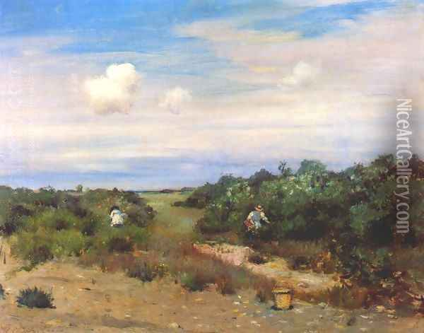 Shinnecock Hills, Long Island 2 Oil Painting - William Merritt Chase