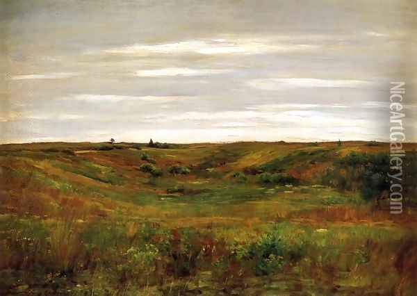 Landscape: A Shinnecock Vale Oil Painting - William Merritt Chase