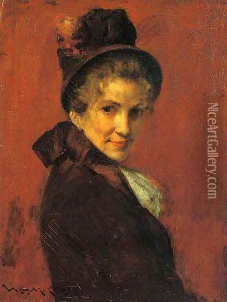 Portrait of a Woman 2 Oil Painting - William Merritt Chase