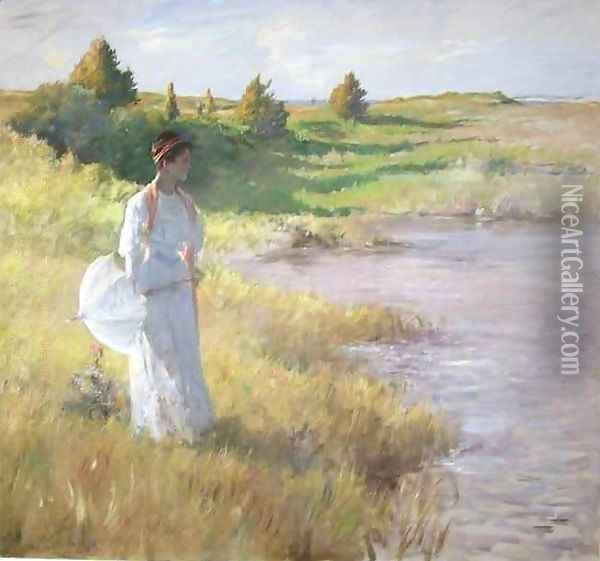 An Afternoon Stroll 2 Oil Painting - William Merritt Chase