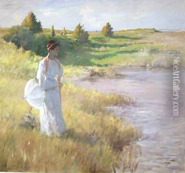 An Afternoon Stroll Oil Painting - William Merritt Chase