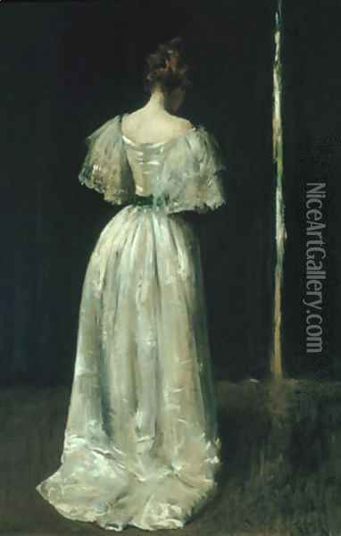 Seventeenth Century Lady 1895 Oil Painting - William Merritt Chase
