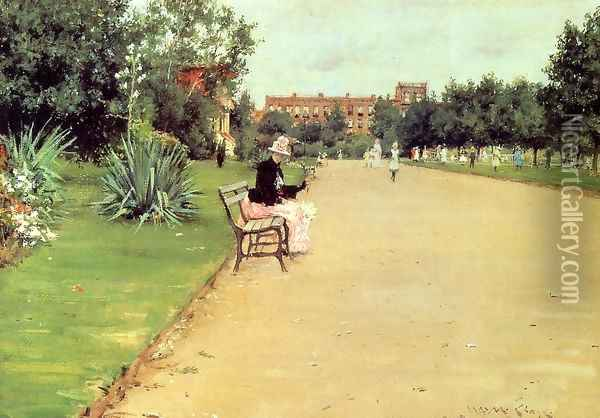 The Park Oil Painting - William Merritt Chase