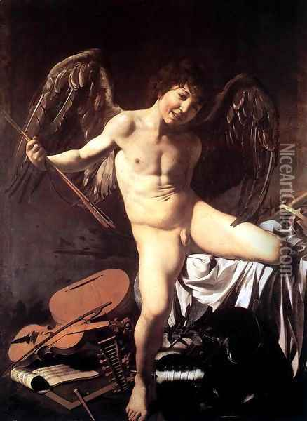 Amor Victorious 1602-03 Oil Painting - Caravaggio