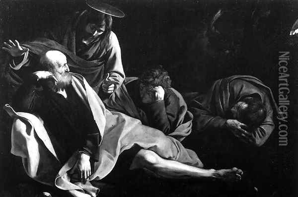 Christ in the Garden 1603 Oil Painting - Caravaggio