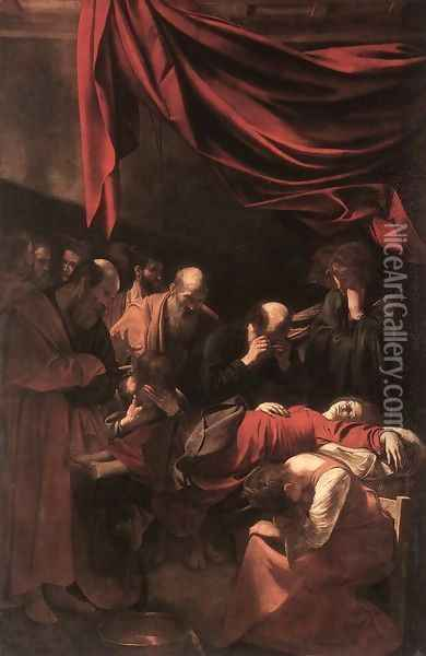 The Death of the Virgin 1606 Oil Painting - Caravaggio