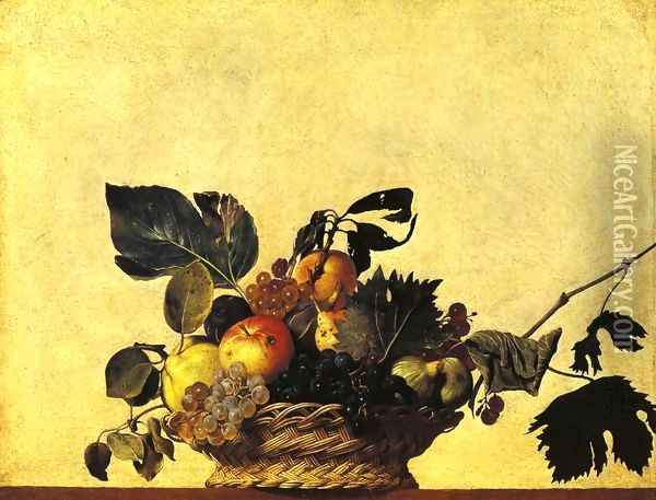 Still Life with a Basket of Fruit Oil Painting - Caravaggio