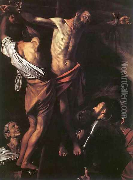 The Crucifixion of St Andrew c. 1607 Oil Painting - Caravaggio