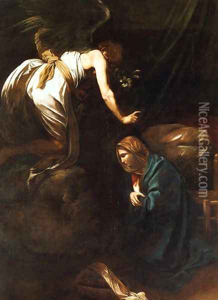 The Annunciation Oil Painting - Caravaggio