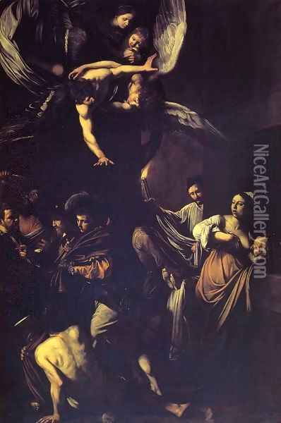Seven Works of Mercy Oil Painting - Caravaggio