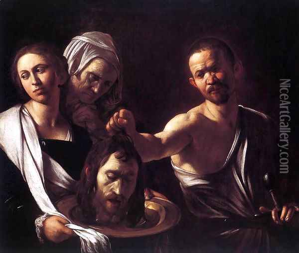 Salome with the Head of St John the Baptist c. 1607 Oil Painting - Caravaggio