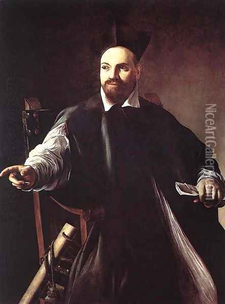 Portrait of Maffeo Barberini 1599 Oil Painting - Caravaggio