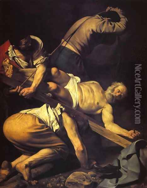 The Crucifixion of St. Peter, 1600-01 Oil Painting - Caravaggio