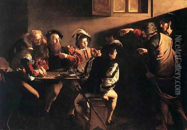 The Calling of Saint Matthew Oil Painting - Caravaggio